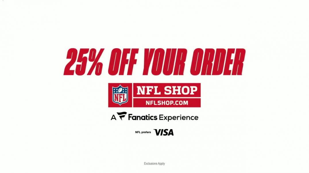 NFL Shop TV Commercial Ad Show Your Colors 25 Percent Off.mp4