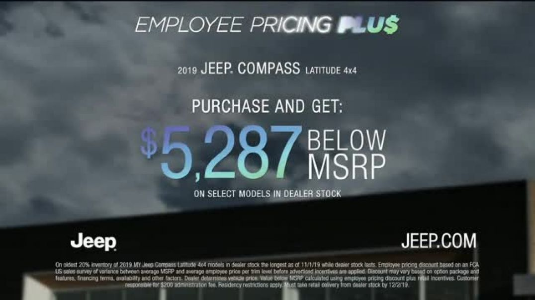 Jeep Black Friday Sales Event TV Commercial Ad Employee Pricing Plus Song by Confetti.mp4