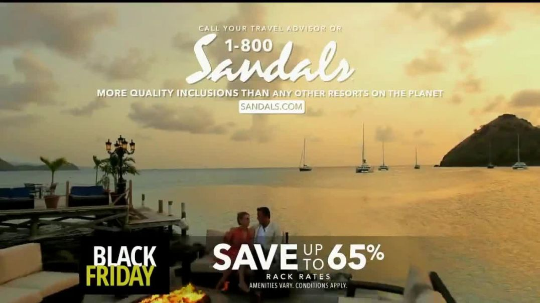 Sandals Resorts Black Friday Sale TV Commercial Ad Imagine $1,000 Booking Credit and Free Night Song