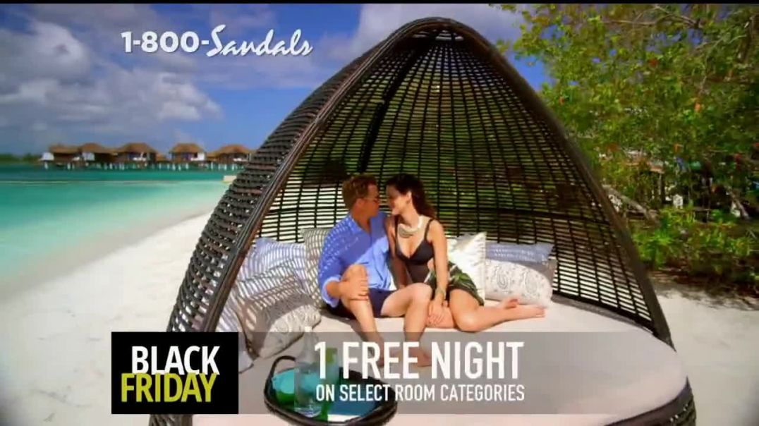 Sandals Resorts Black Friday Sale TV Commercial Ad $1,000 Booking Credit and Free Night.mp4
