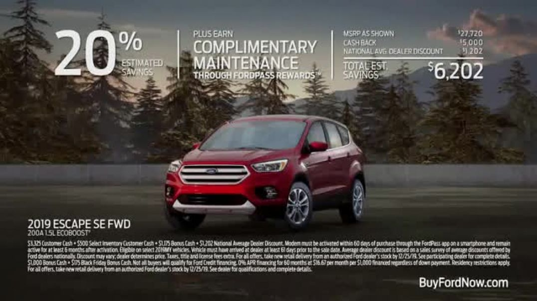 Ford Built for the Holidays Sales Event TV Commercial Ad Tree Cutting.mp4