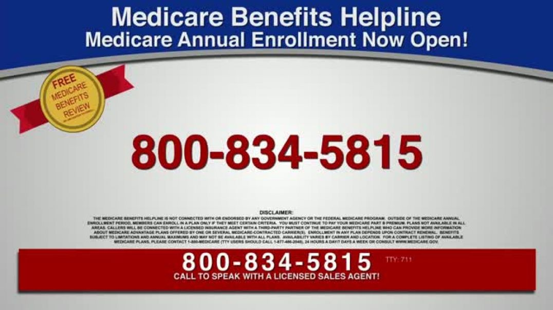 Medicare Benefits Helpline TV Commercial Ad Additional Benefits Hearing Aids, Glasses, Meal Delivery