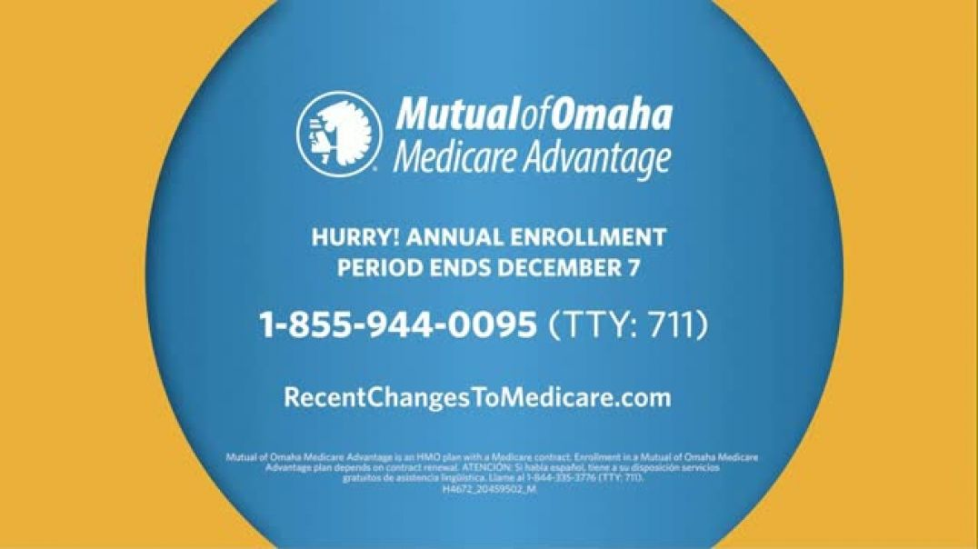 Mutual of Omaha Medicare Advantage TV Commercial Ad Just Last Year $50 Reduction.mp4