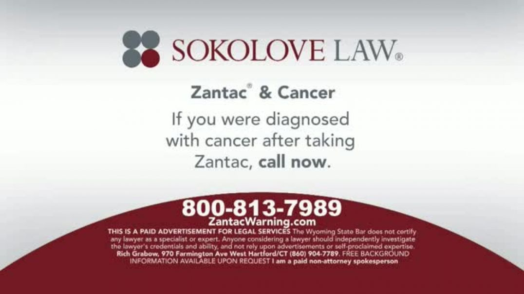 Sokolove Law TV Commercial Ad Zantac & Cancer.mp4