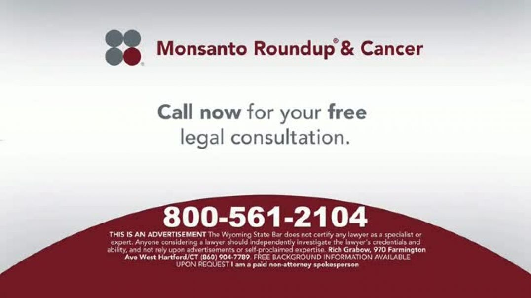 Sokolove Law TV Commercial Ad Monsanto Roundup & Cancer.mp4
