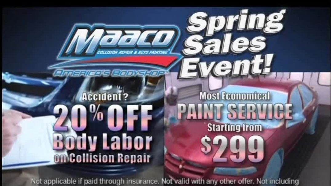Maaco Spring Sales Event TV Commercial Ad, Paint Service and Collision Repair.mp4