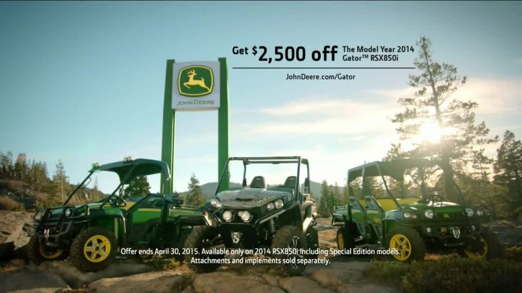 John Deere Gator TV Commercial Ad, Father Helps Son.mp4