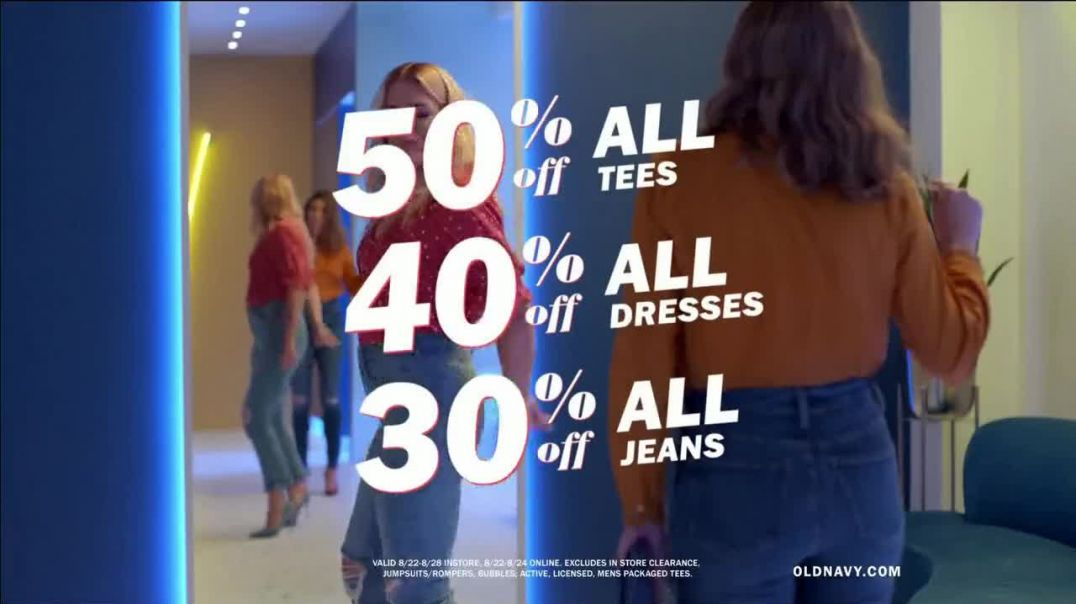 Old Navy HighRise Slim Straight Jeans TV Commercial Ad, Tees, Jeans and Dresses Featuring Busy Phili