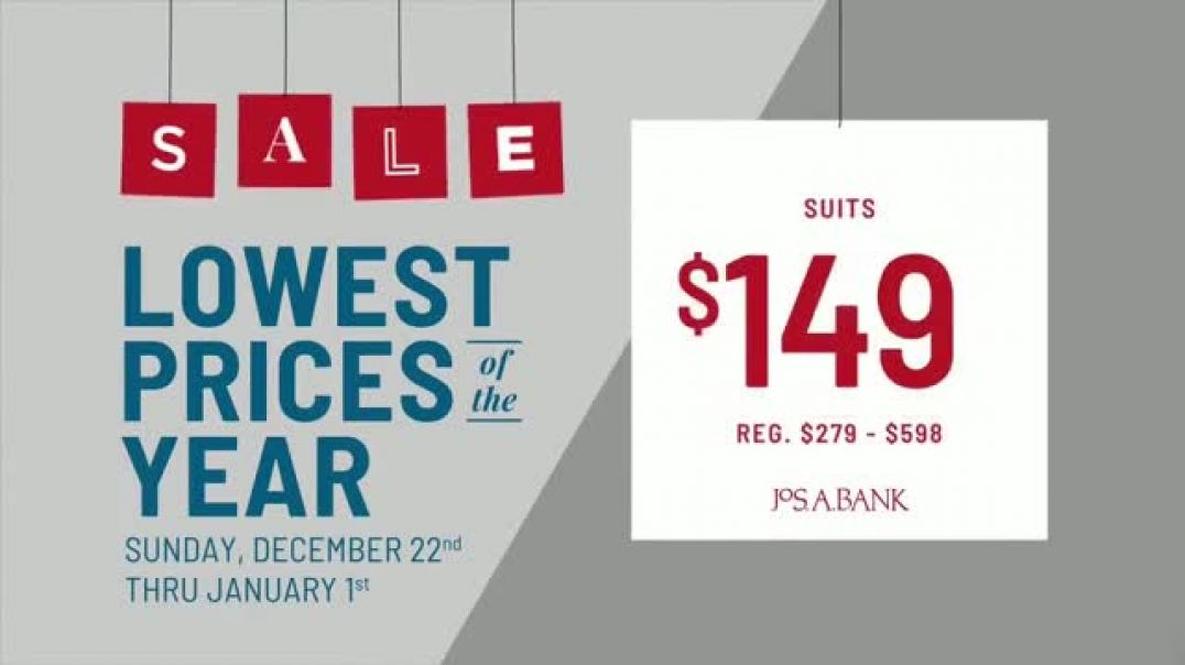 JoS A Bank Lowest Prices of the Year Event  TV Commercial ad, Suits, Sportcoats, Dress Shirts &a