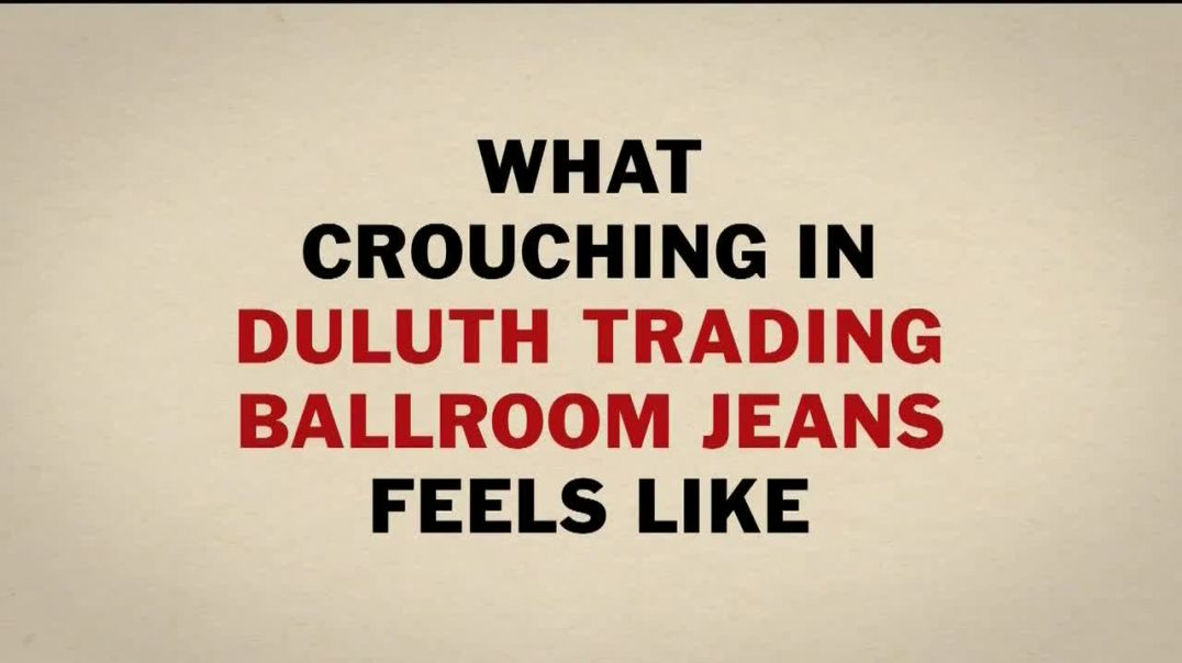 Duluth Trading Ballroom Jeans TV Commercial Ad, Crouch Without the Ouch.mp4