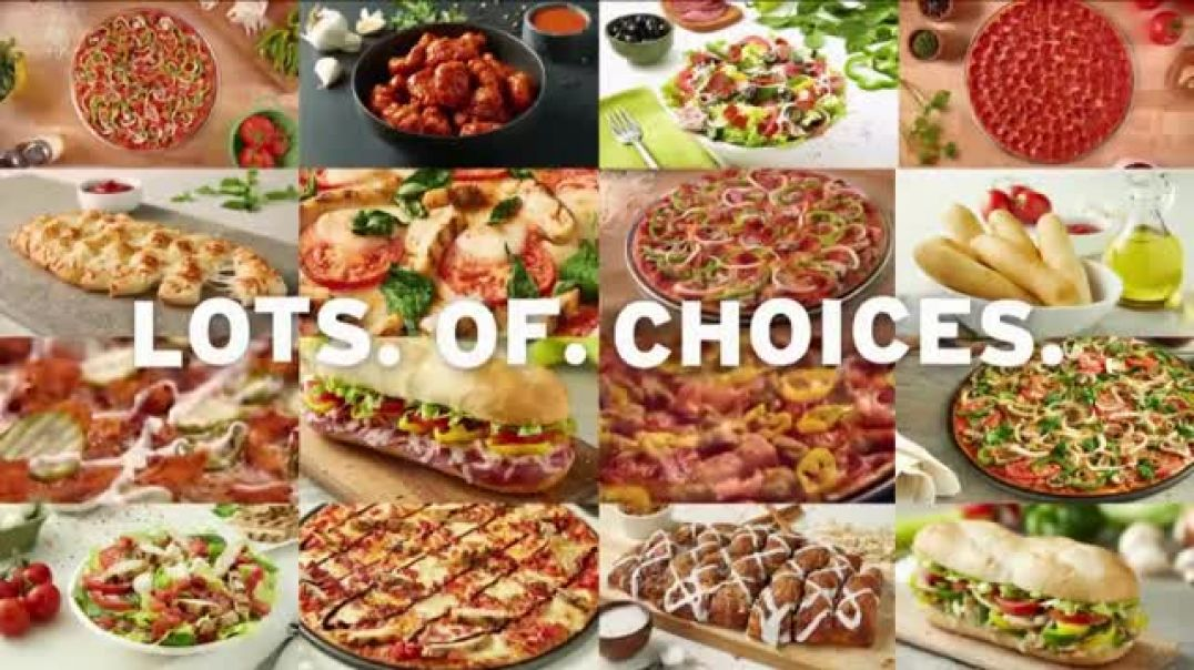 Donatos Extra Cheese and Choose Pizza TV Commercial Ad, A Gagillion Choices!.mp4