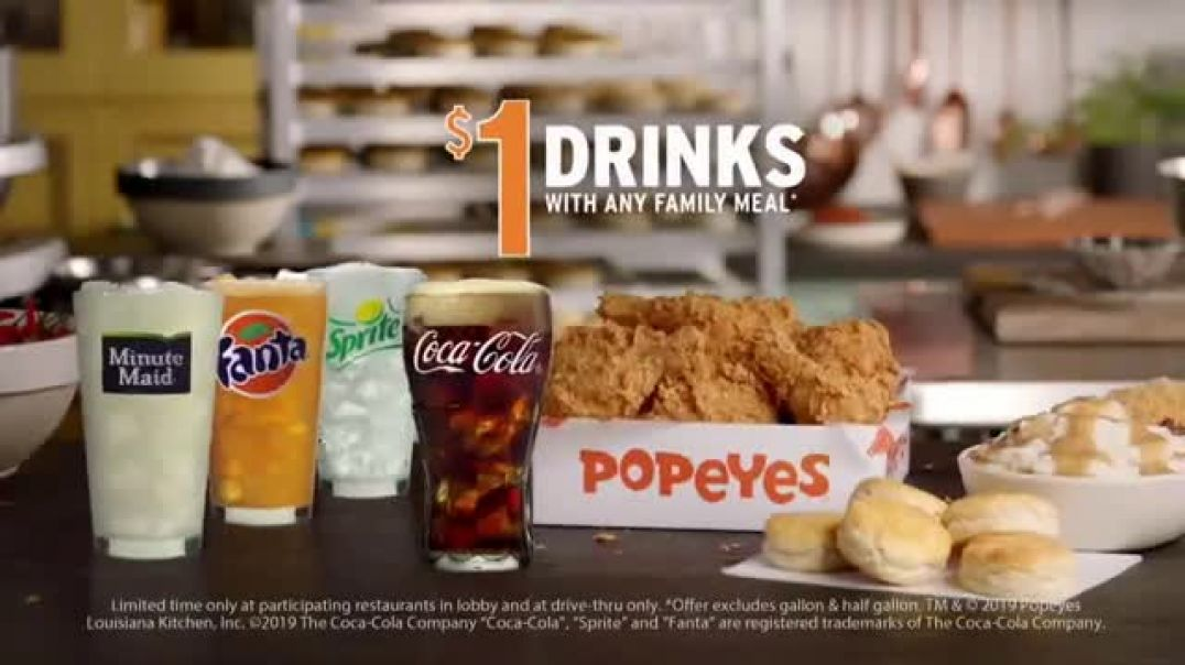 Popeyes Family Meal TV Commercial Ad, More Than Enough Flavor.mp4