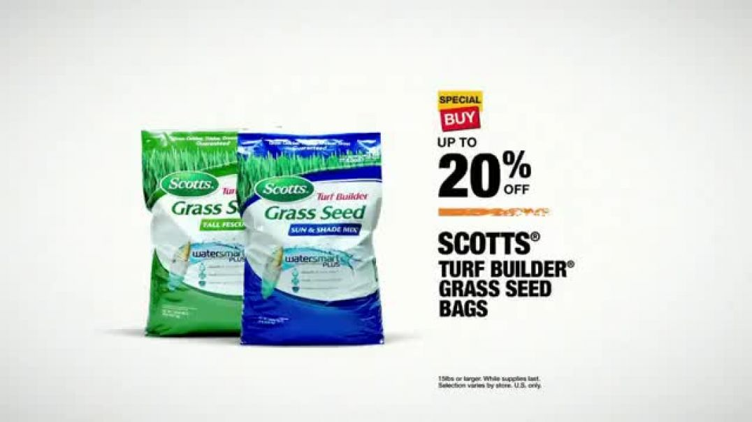 The Home Depot TV Commercial Ad, Some of the Good Stuff Turf Builder Grass Seed.mp4