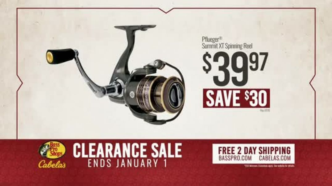 Bass Pro Shops Clearance Sale TV Commercial Ad, Hunting Boots and Pflueger Spinning Wheels.mp4