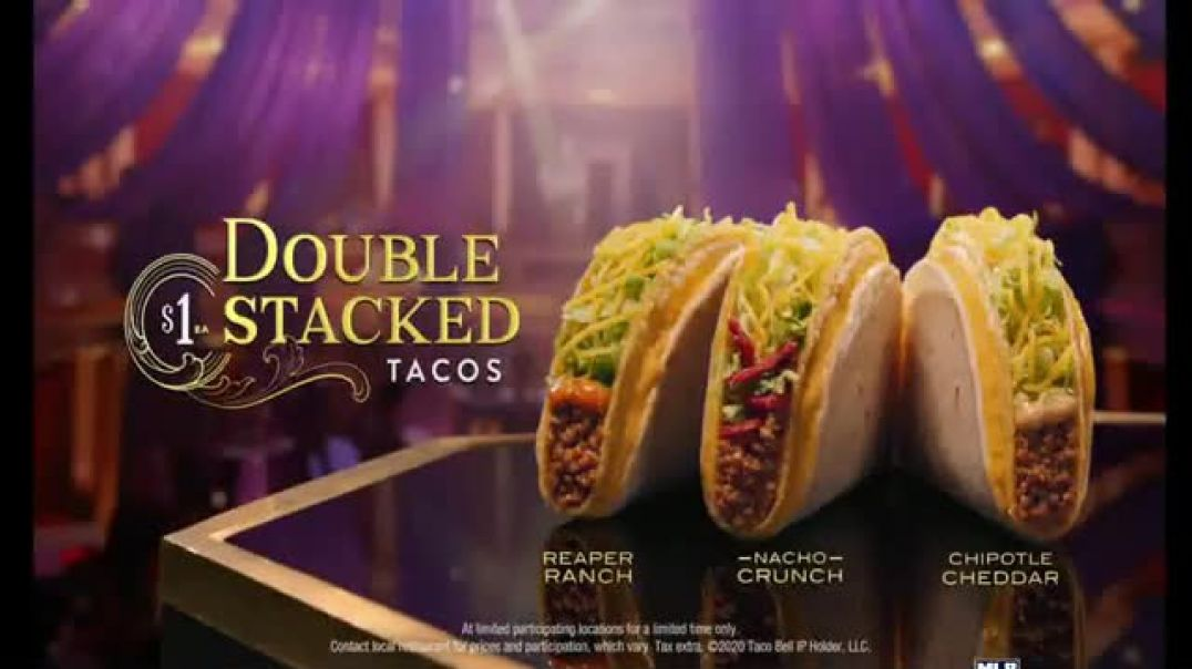 Taco Bell $1 Double Stacked Tacos TV Commercial Ad, Big Show.mp4