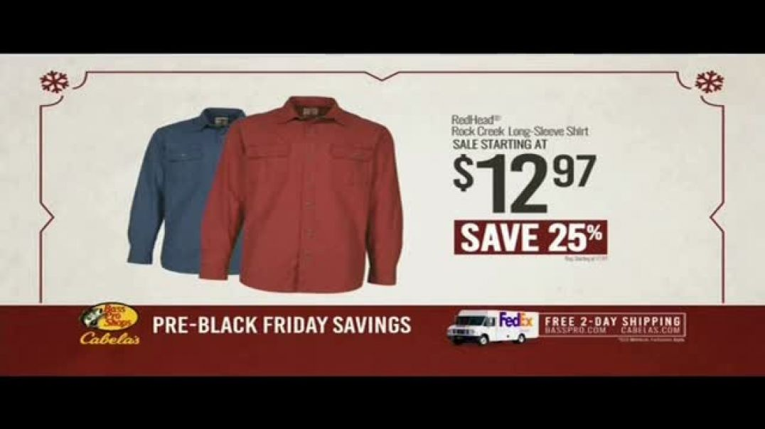 Bass Pro Shops Kickoff Sale TV Commercial Ad, Shirts and Smoker