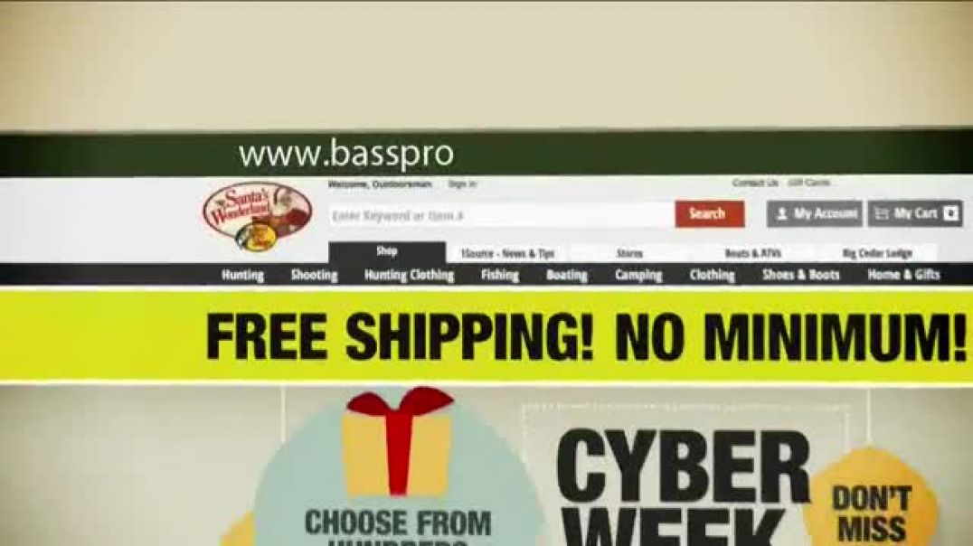 Bass Pro Shops Holiday Sale TV Commercial Ad, New Balance Trainers and Raptor.mp4