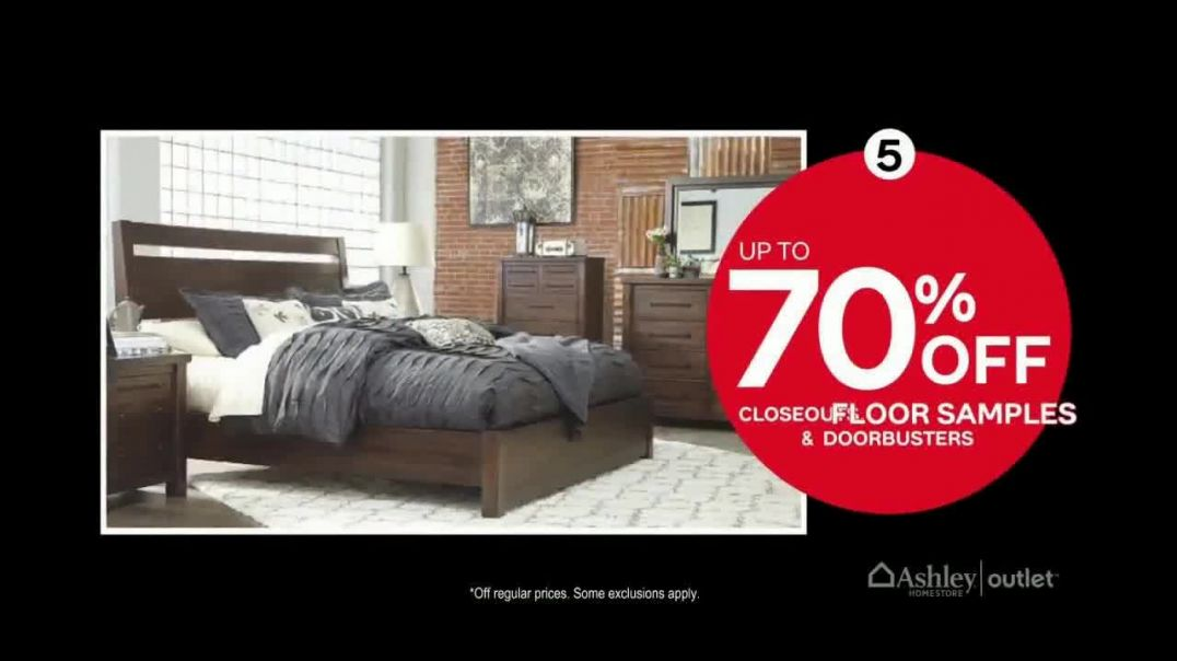Ashley HomeStore Outlet Black Friday Sale TV Commercial Ad, Six Incredible Offers.mp4