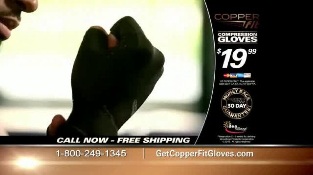 Copper Fit Compression Gloves TV Commercial Ad, Feel Better.mp4