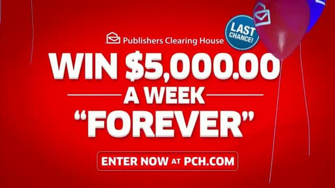 Publishers Clearing House TV Commercial Ad, $5,000 a Week Last Chance Featuring Steve Harvey.mp4