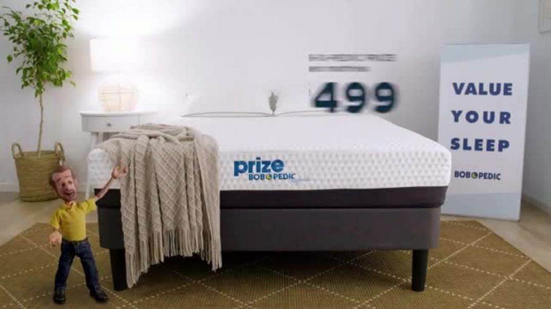 Bobs Discount Furniture BobOPedic Prize Mattress TV Commercial Ad, Value Your Sleep.mp4