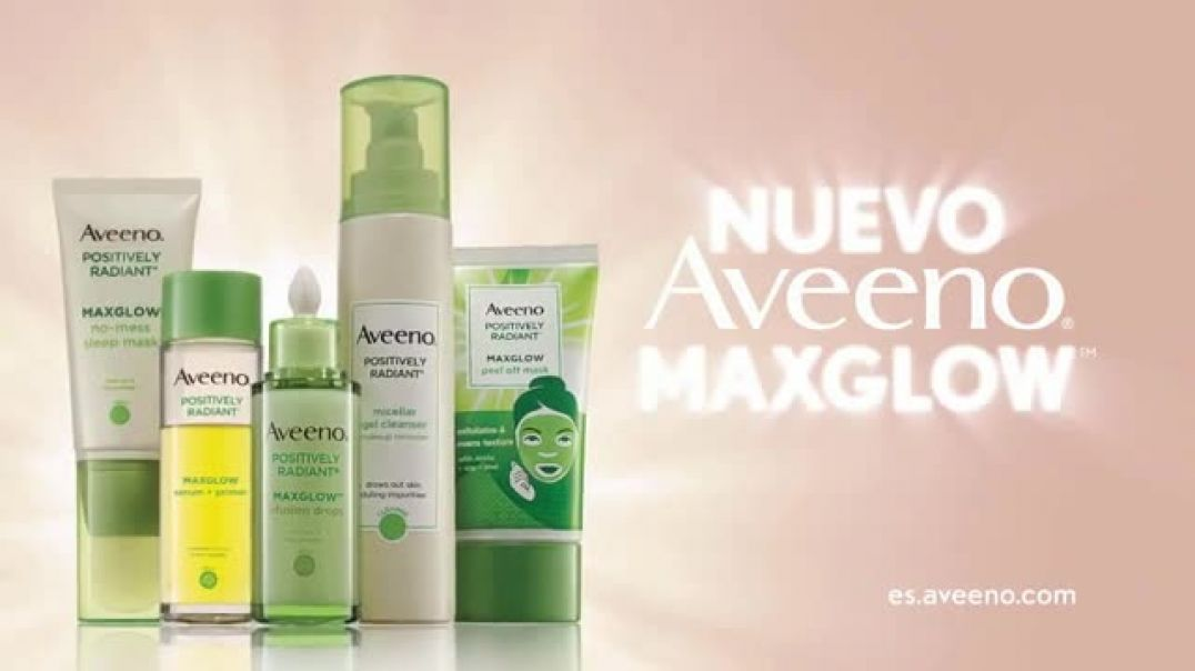 Aveeno Maxglow Infusion Drops TV Commercial Ad, Piel más luminosa.mp4