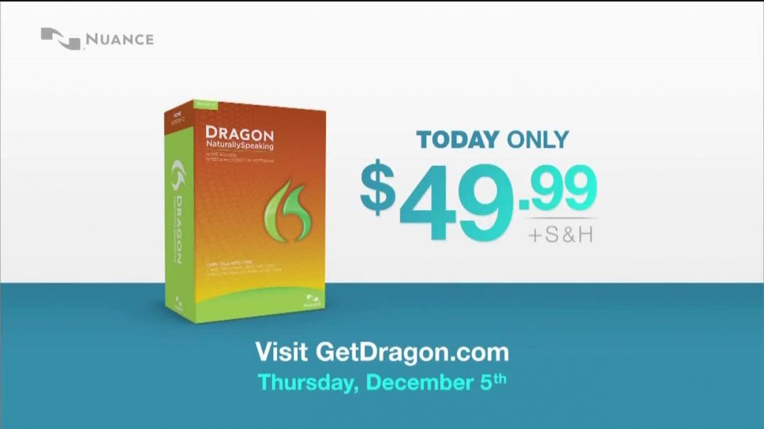 Nuance Dragon TV Commercial Ad, Half Off Today Only.mp4