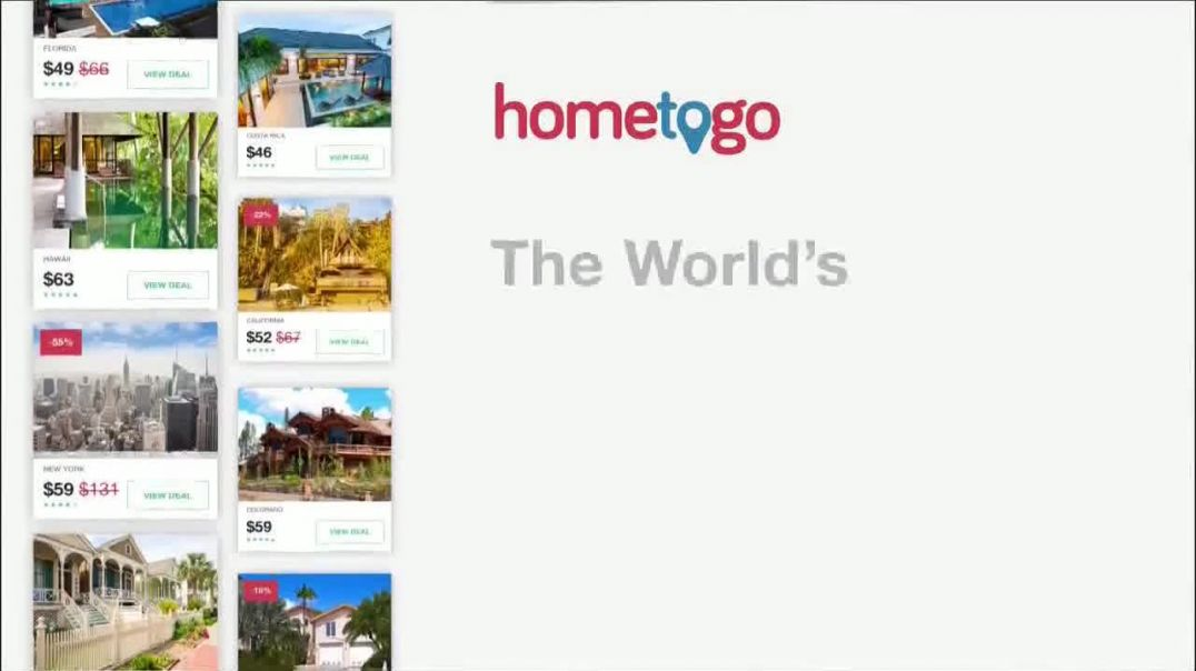 HomeToGo TV Commercial Ad, Florida, Texas & New York Featuring Chris North.mp4
