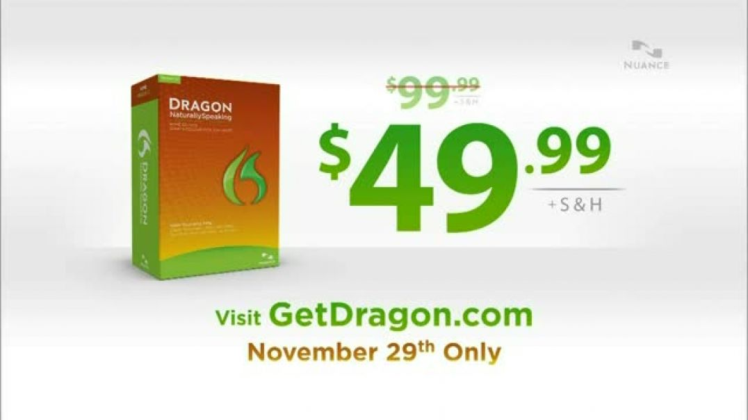 Nuance Dragon TV Commercial Ad, Today Only.mp4