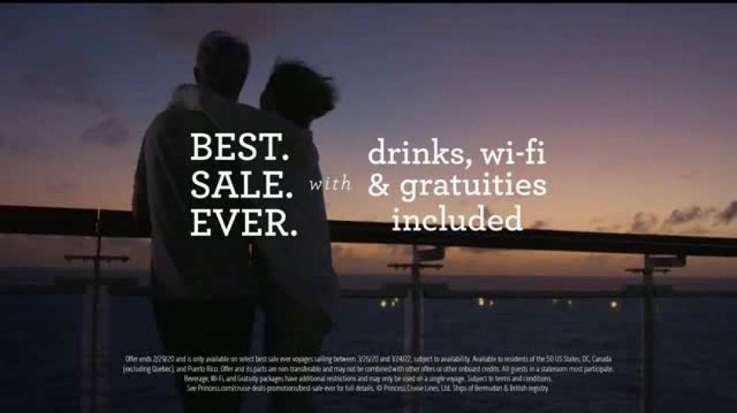 Princess Cruises Best Sale Ever TV Commercial Ad, This World Is Better Experienced Together.mp4