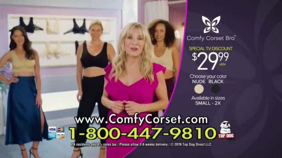 Comfy Corset TV Commercial Ad, A Bra That Does It All Featuring Taylor Baldwin.mp4