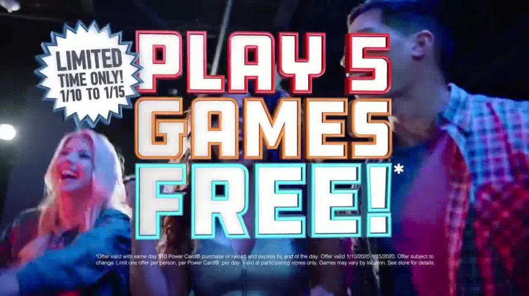 Dave and Busters TV Commercial Ad, New Year Five Free Games.mp4