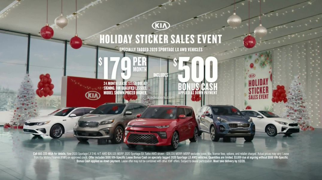 Kia Holiday Sticker Sales Event TV Commercial Ad, Look for a Sticker.mp4