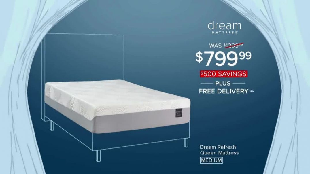 Value City Furniture New Years Sale TV Commercial Ad, Dream Refresh Queen Mattress.mp4