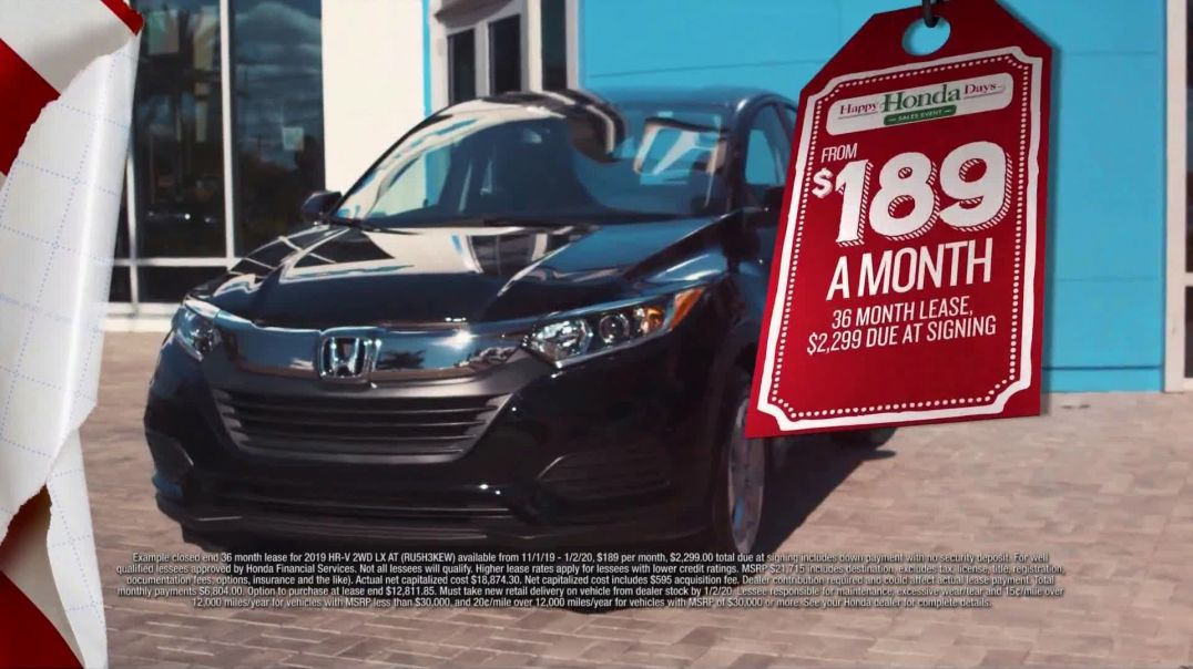 Happy Honda Days Sales Event TV Commercial Ad, Huge Clearance Savings SUVs.mp4