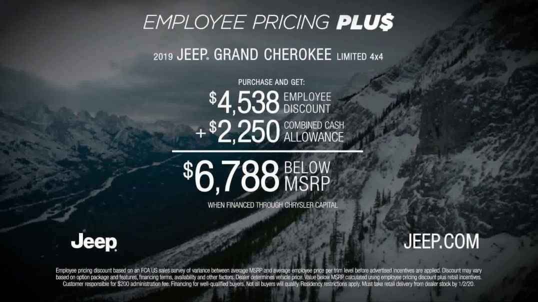 Jeep Big Finish 2019 TV Commercial Ad, Employee Pricing Plus Out There.mp4
