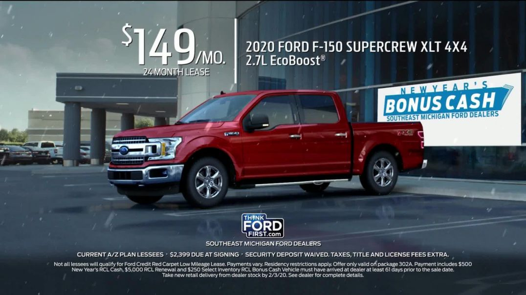 Ford New Years Bonus Cash TV Commercial Ad, Celebrate the New Year F150.mp4