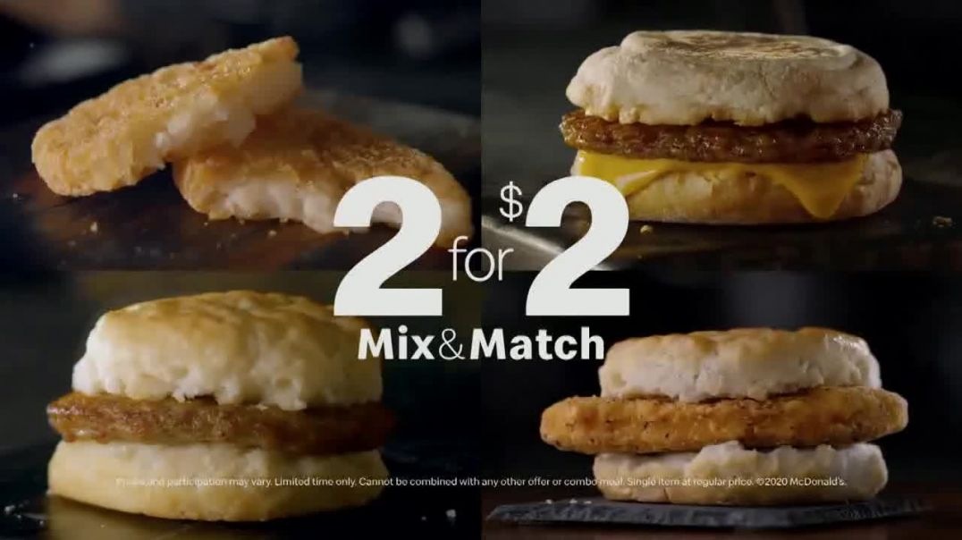 McDonalds Mix & Match 2 for $2 TV Commercial Ad, Breakfast Favorites.mp4