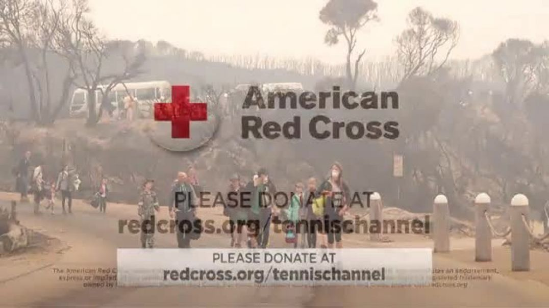 American Red Cross TV Commercial Ad, Tennis Channel Australian Bush Fires.mp4