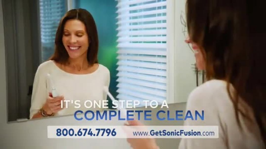 Waterpik Sonic Fusion TV Commercial Ad, Floss and Brush at the Same Time.mp4