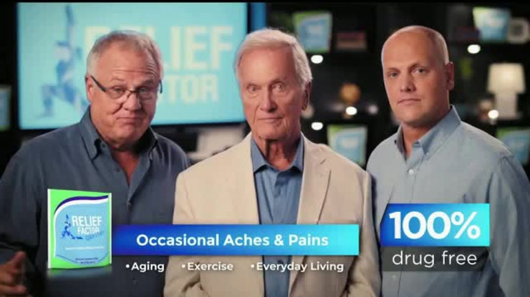 Relief Factor TV Commercial Ad, Number One Reason Featuring Pat Boone.mp4