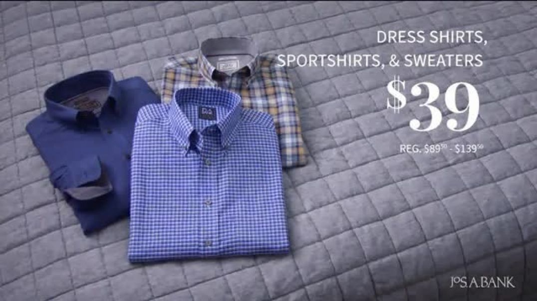 JoS. A. Bank January Savings Event TV Commercial Ad, Suits and Dress Shirts.mp4