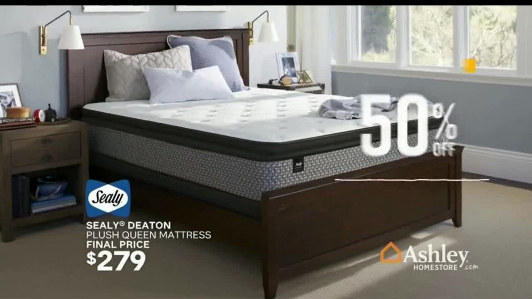 Ashley HomeStore Sale & Clearance Mattress Event TV Commercial Ad, Rest for Less Song by