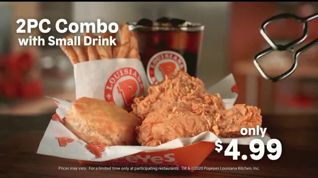 Popeyes 2Piece Combo TV Commercial Ad, Start Your Week.mp4