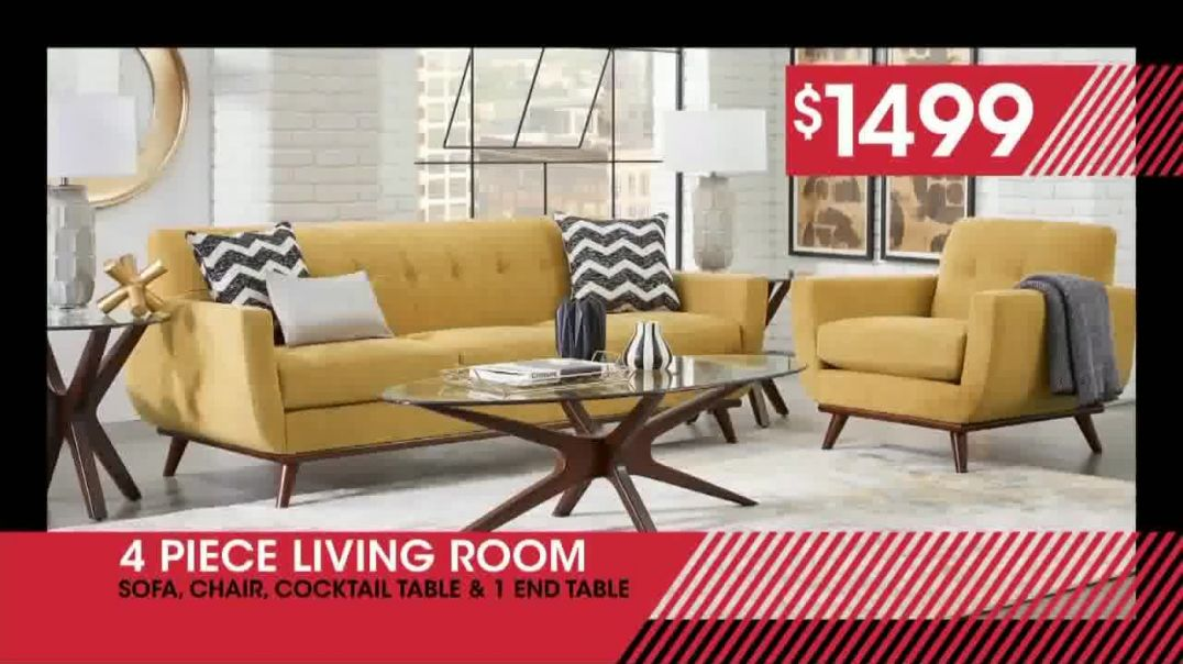 Rooms to Go January Clearance Sale TV Commercial Ad, Four Piece Living Room.mp4