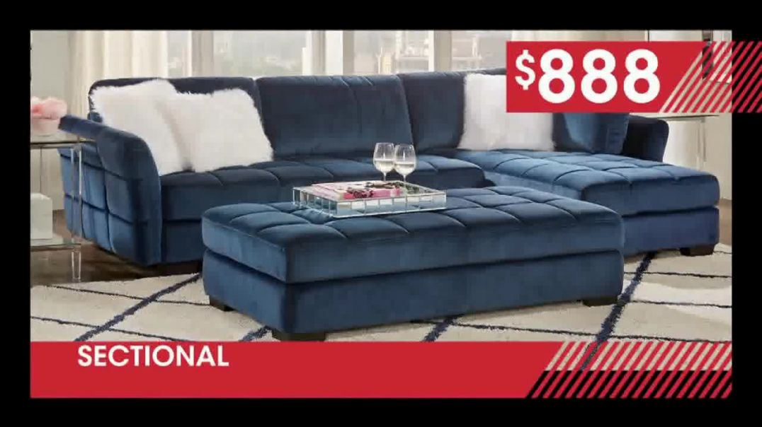 Rooms to Go January Clearance Sale TV Commercial Ad, Stylish Sectional.mp4