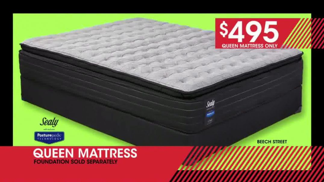 Rooms to Go January Clearance Sale TV Commercial Ad, Three Queen Mattresses.mp4