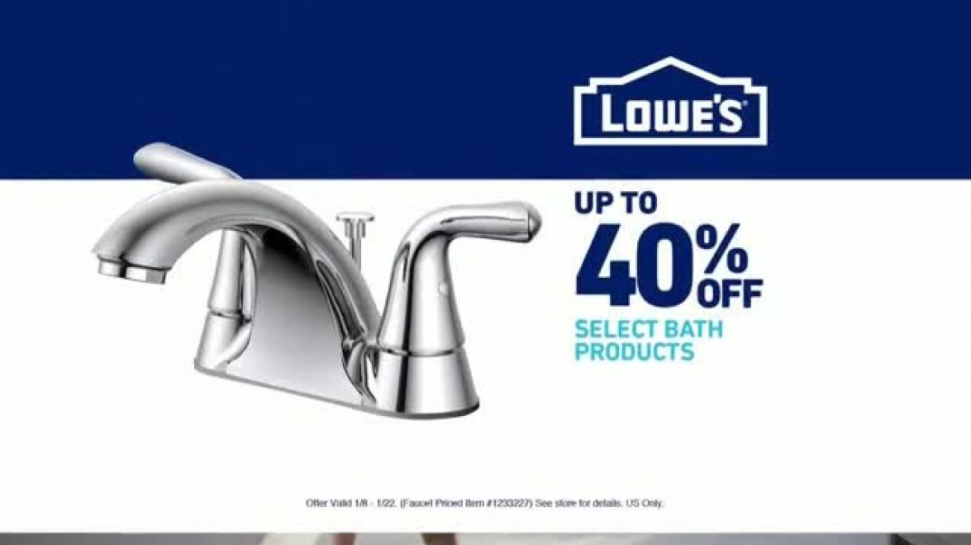 Lowes Bath Savings Event TV Commercial Ad, Remodeling Team Faucets.mp4