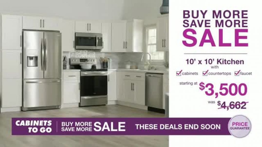 Cabinets To Go Buy More Save More Sale TV Commercial Ad, Less Dough.mp4