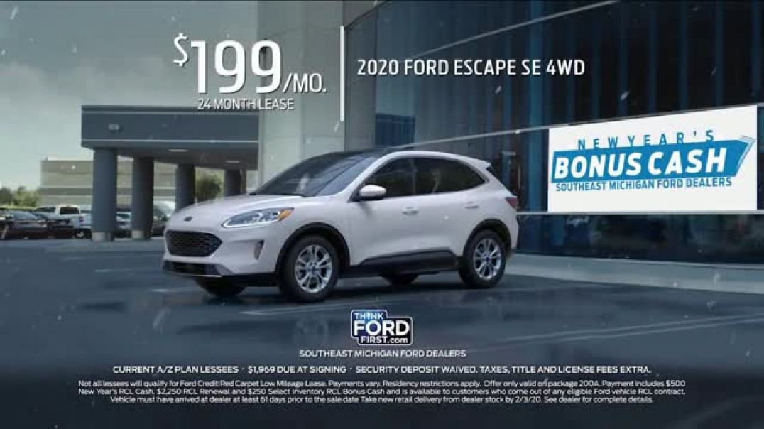 Ford New Years Bonus Cash TV Commercial Ad, Celebrate the New Year Escape.mp4
